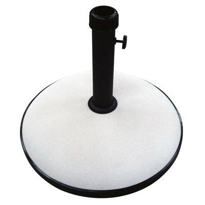 Parasolvoet rond beton 30kg beige/wit