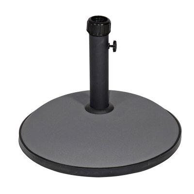 Parasolvoet rond beton 30kg grijs