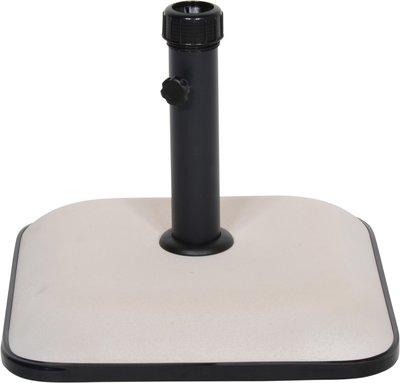 Parasolvoet vierkant beton 25kg beige/wit