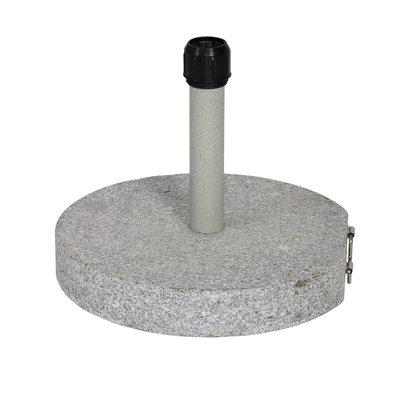 Parasolvoet rond graniet 30kg grijs