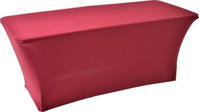 Easyfit buffettafelrok, stretch, bordeaux 180x76cm