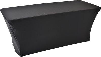 Easyfit buffettafelrok, stretch, zwart 180x76cm
