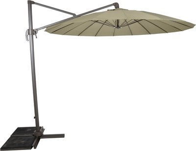 Zweefparasol Shanghai Authentic grey 3mtr