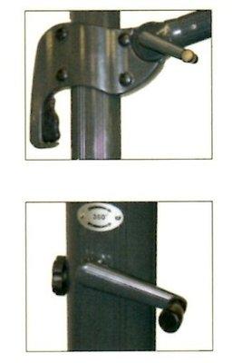 Zweefparasol Scorpio grijs 3,5mtr