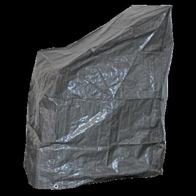 Beschermhoes grijs voor stapelstoelen