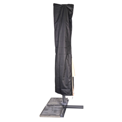 Beschermhoes zwart zweefparasol,stok, Ø3,5m/3x3m