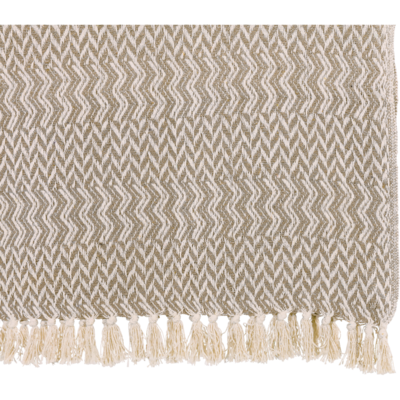 Plaid lichtgrijs, 125x150cm