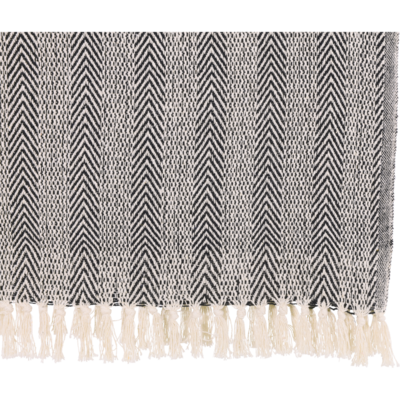 Plaid zwart, 125x150cm