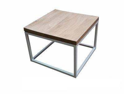 Eiken salontafel 60x60cm wit