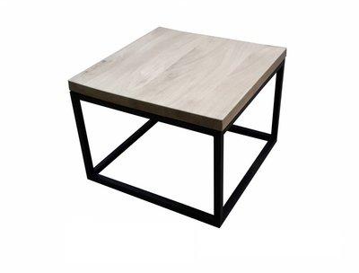 Eiken salontafel 60x60cm transparant
