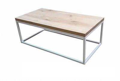 Eiken salontafel 120x60cm wit