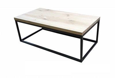 Eiken salontafel 120x60cm zwart