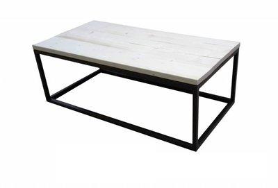 Steigerhouten salontafel 120x60cm zwart