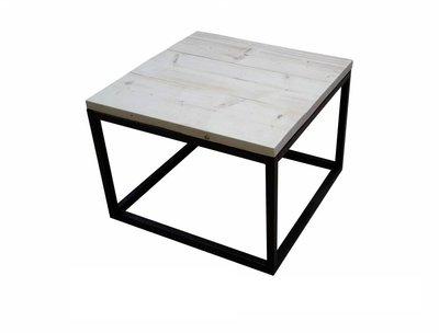 Steigerhouten salontafel 60x60cm zwart