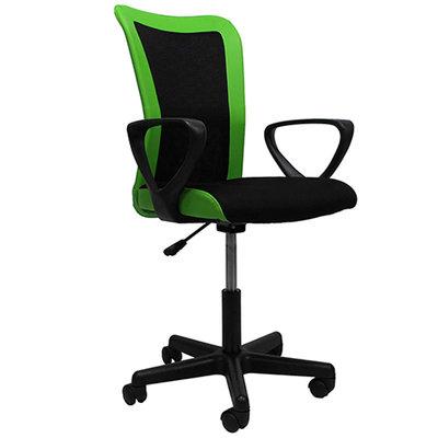 Bureaustoel Frog zwart/groen met arm