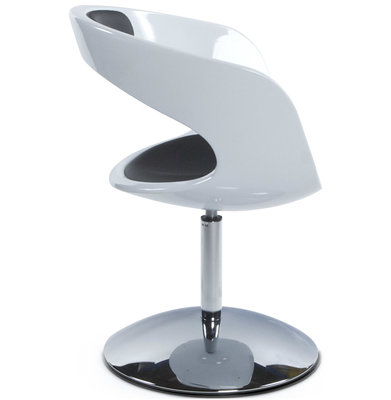 Design Stoel KIRK Wit-Zwart