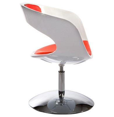 Design Stoel KIRK Wit-Rood