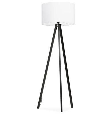 Vloerlamp TRIVET Wit/Zwart