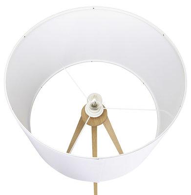 Vloerlamp TRIVET Wit/Hout
