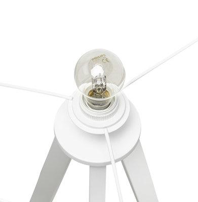 Vloerlamp TRIVET Wit/Wit