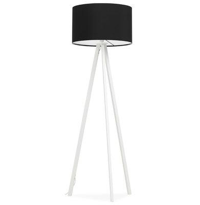 Vloerlamp TRIVET Zwart/Wit