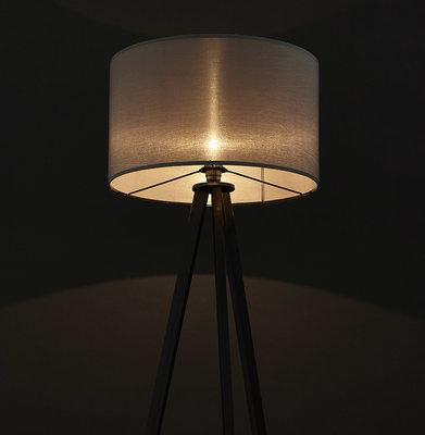 Vloerlamp TRIVET Grijs/Zwart