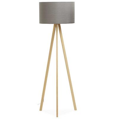 Vloerlamp TRIVET Grijs/Hout