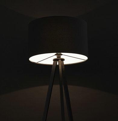 Vloerlamp TRIVET Zwart/Zwart