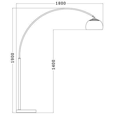 Vloerlamp LOFT XL Chroom