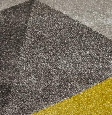 Vloerkleed MUOTO 160x230 cm Geel