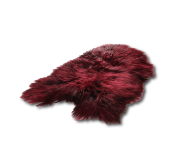 Icelandic Sheepskin Burgundy Red