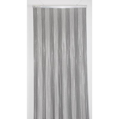 Deurgordijn alu Chain 100x230cm zwart/grijs