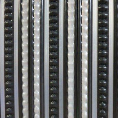 Deurgordijn PVC Tris antraciet/grijs 90x220cm