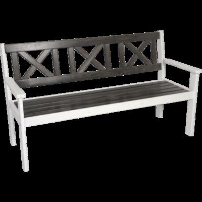 Bank Tapa grenen wit/grijs 160cm