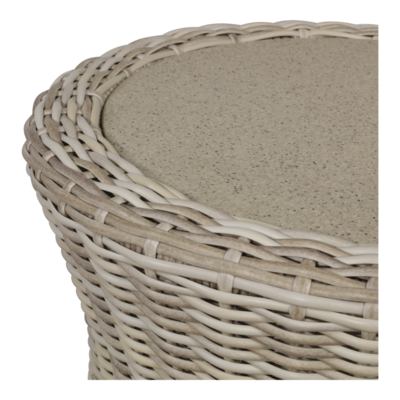 Loungetafel Soho Beach 51cm, spray stone