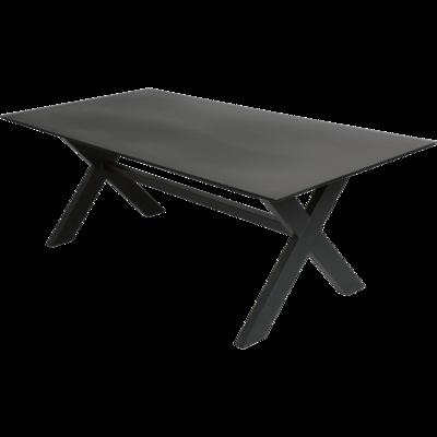 Tafel Blaxx kruispoot zwart 200x100cm
