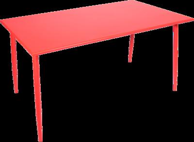 Tafel Da Vinci 140x80x73cm raspberry red