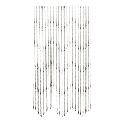 Deurgordijn PVC druppel zwart 90x200cm