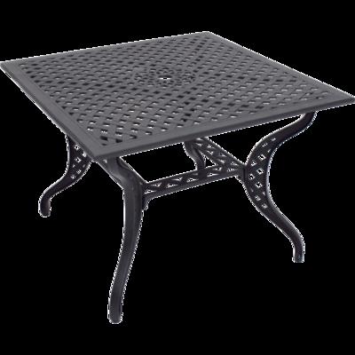 Vierkante tafel Trafalgar gietaluminium 100x100cm