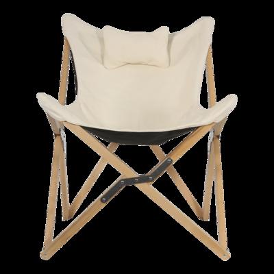 Vlinderstoel naturel