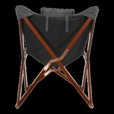 Vlinderstoel, grijs gemeleerd