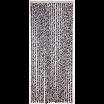 Deurgordijn chenille antrct/wit 90x220cm