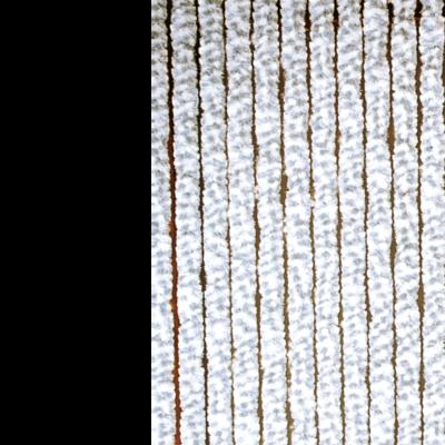 Deurgordijn chenille wit/grijs 100x230cm