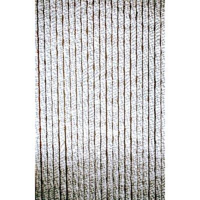 Deurgordijn chenille grijs/wit 60x185cm