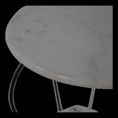Bijzettafel marmer wit 25/41cm