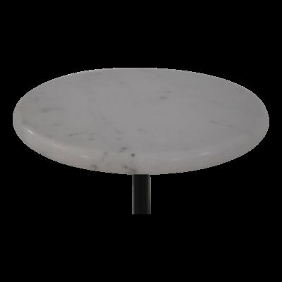 Bijzettafel marmer wit 30cm