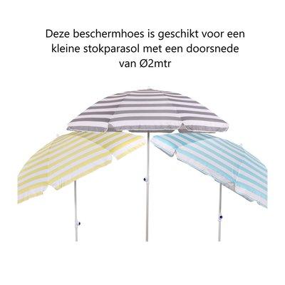 Beschermhoes grijs parasol 2mtr