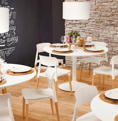 Design Eettafel BURO 120 Wit