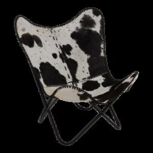 Vlinderstoel Cow Zwart-Wit