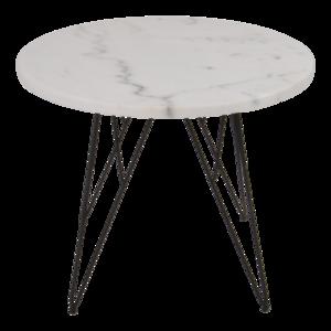 Bijzettafel marmer wit Ø55x45cm